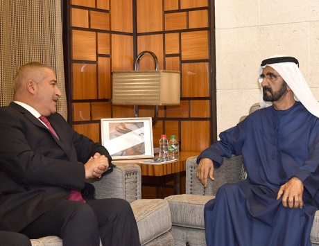 خليفة يتلقى دعوة لقمة الأردن يتسلمها نائب رئيس الدولة