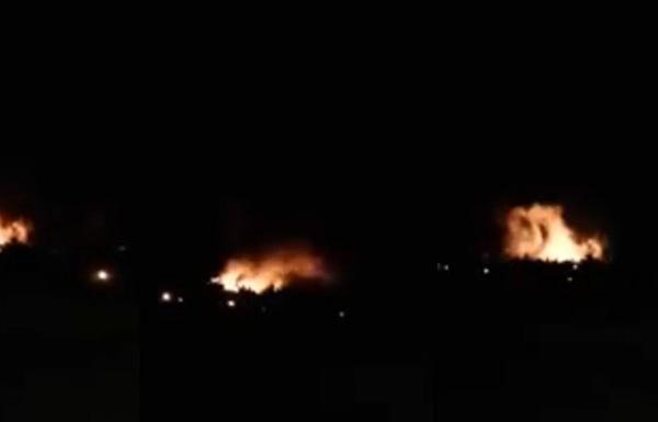 إسرائيل تقصف منطقة عسكرية بدمشق