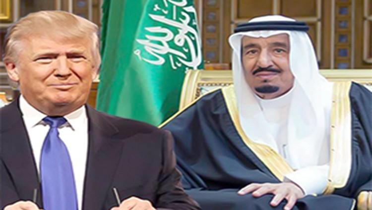 العاهل السعودي وترامب يتفقان على مناطق آمنة بسوريا واليمن