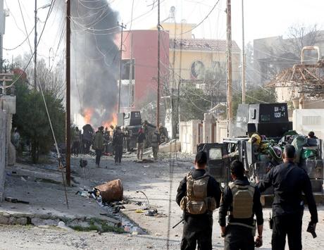 القوات العراقية تستعيد 90 % من شرقي للموصل
