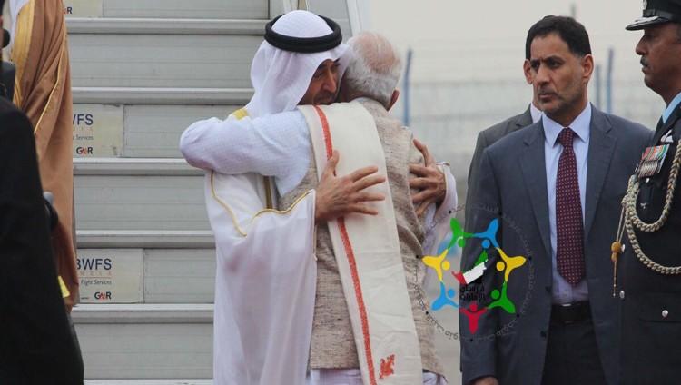 محمد بن زايد يصل الهند للمشاركة في احتفالاتها بيوم الجمهورية