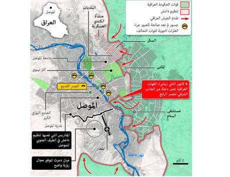 القوات العراقية تسيطر على 80 في المئة من شرقي الموصل