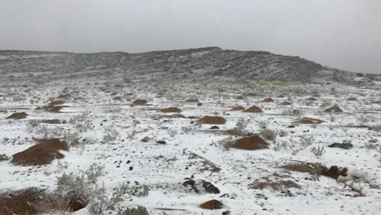 أمطار الخير تعم البلاد.. والثلوج تغطي «جيس»