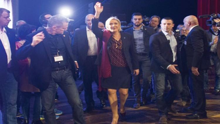 لوبان تدشن حملتها الرئاسية وتعد بالخروج من الاتحاد الأوروبي