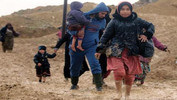 فرار جماعي للمدنيين «حفاة» من معارك الموصل