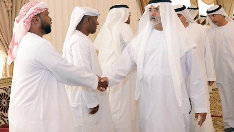 نهيان بن مبارك يعزّي في الشهيد زكريا الزعابي