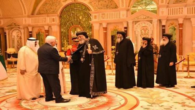 أمير الكويت يستقبل الرئيس الفلسطيني والبابا تواضروس