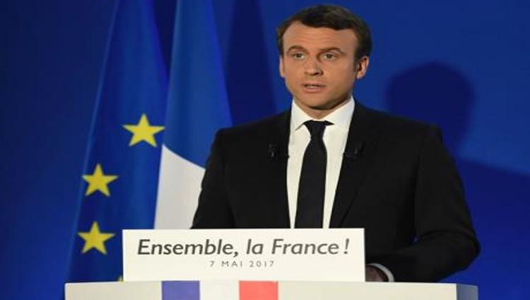 ماكرون في خطاب النصر: سندافع عن فرنسا وأوروبا ونحارب الإرهاب والانقسامات
