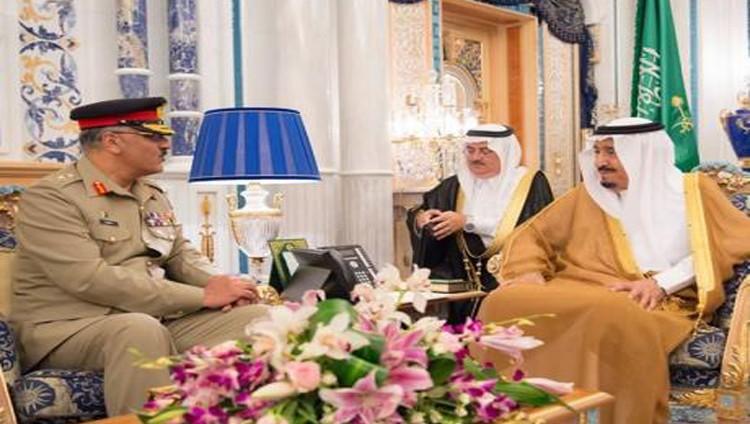 سلمان يبحث مع رئيس الأركان الباكستاني محاربة الإرهاب
