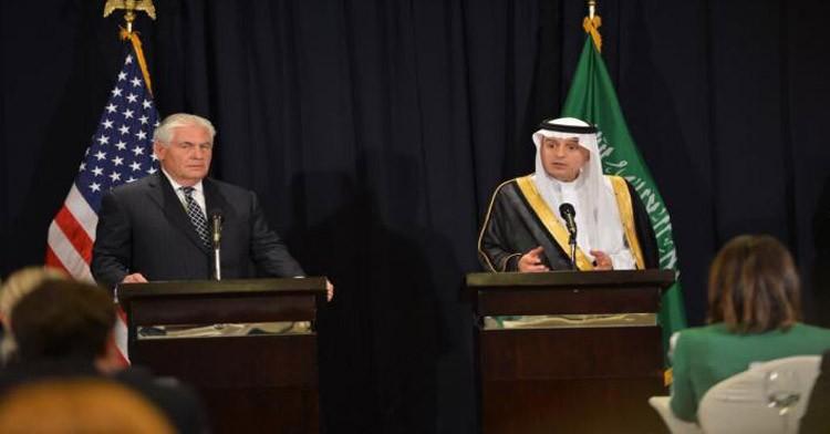 الجبير: محادثات خادم الحرمين والرئيس الأمريكي تناولت التدخلات الإيرانية