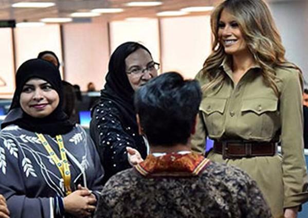 ميلانيا ترامب تشيد «بتمكين المرأة» السعودية