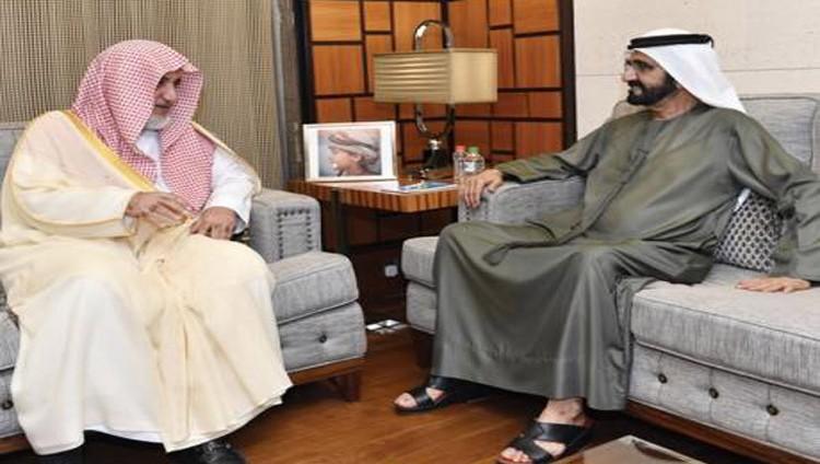 محمد بن راشد ووزير الأوقاف السعودي يبحثان ترسيخ الإسلام بعيداً عن التطرف