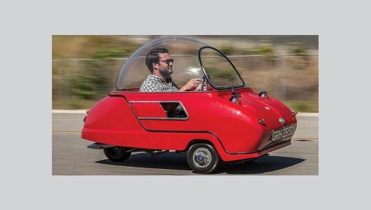 """تعرف على """" Peel Trident"""" أصغر سيارة في العالم"""