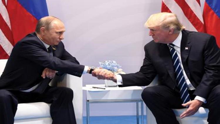 ترامب وبوتين يتطلعان لعلاقات إيجابية بين بلديهما في أول لقاء بينهما