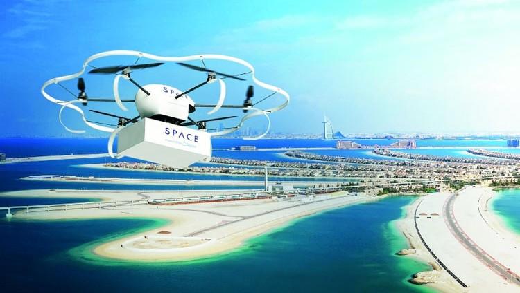 دبي تطلق التوصيل بطائرات ذاتية الحركة
