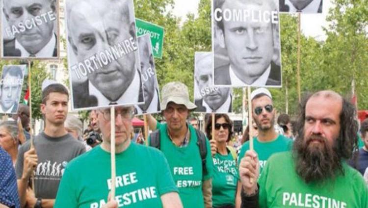 احتجاجات في فرنسا ضد زيارة نتنياهو