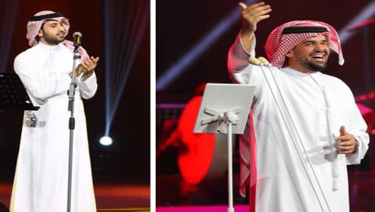 حسين الجسمي وفؤاد عبدالواحد ينشران البهجة في الرياض