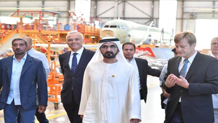 محمد بن راشد : «إيرباص» ملتزمة بتنفيذ كامل شروط «الإمارات»