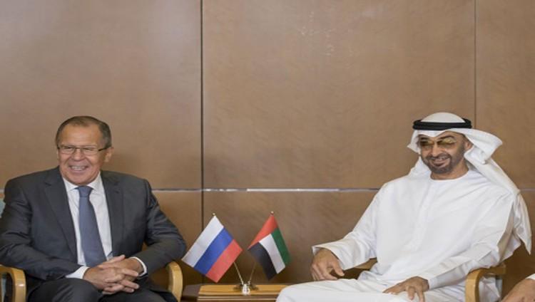 محمد بن زايد ولافروف يبحثان العلاقات الثنائية ومستجدات المنطقة