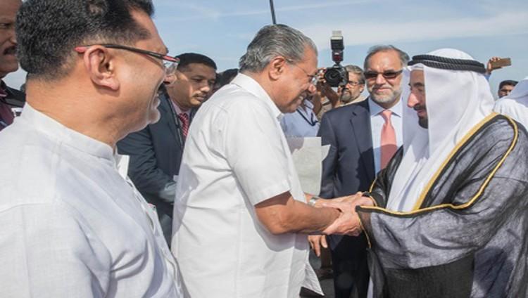 سلطان يبحث مع رئيس حكومة كيرالا علاقات التعاون