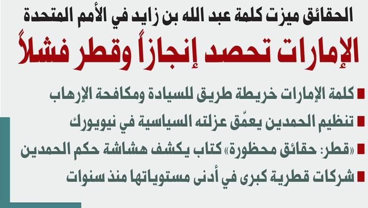 الإمارات تحصد إنجازاً وقطر فشلاً