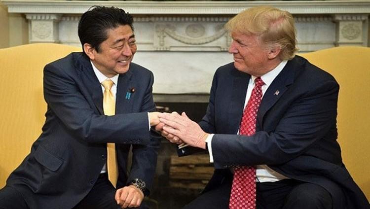 ترامب وشينزو آبي بحثا تجربة كوريا الشمالية الخطيرة