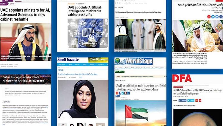 إعلام العالم يشيد باستحداث حكومة الإمارات وزارات نوعية