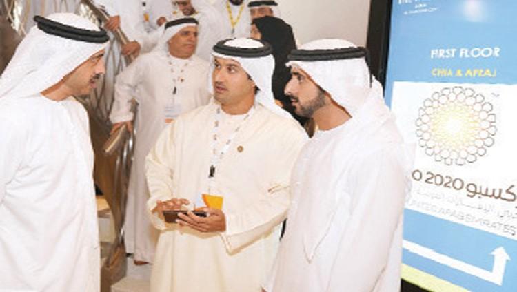 حمدان بن محمد وعبدالله بن زايد يحضران اجتماع المشاركين الدوليين في «إكسبو دبي» 2020
