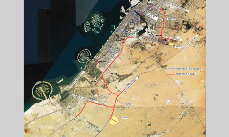 بلدية دبي تبدأ تحقيقاً «جغراتقنياً» لمشروع النفق الاستراتيجي للصرف الصحي