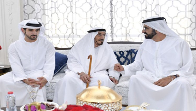 محمد بن راشد يحضر مأدبة ابن الشيخ مجرن