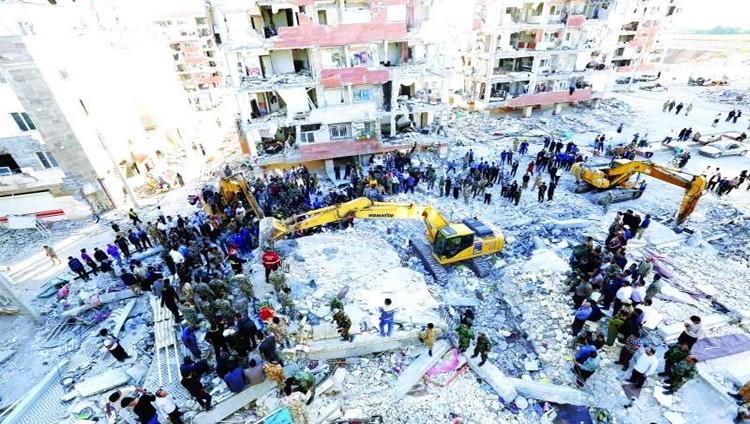 450 قتيلاً و7160 جريحاً في زلزال العراق وإيران