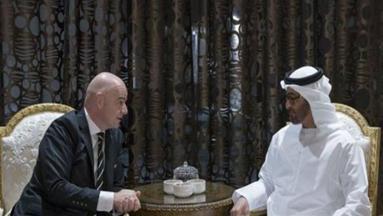 محمد بن زايد يستقبل رئيس «الفيفا» ويؤكد: دعم الإمارات للرياضة يسهم في التبادل الثقافي بين الشعوب