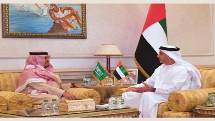 سيف بن زايد يبحث التعاون الأمني مع السعودية