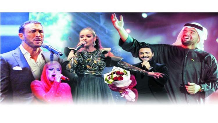 نجوم الفن العربي والعالمي يطربون الآلاف في أبوظبي