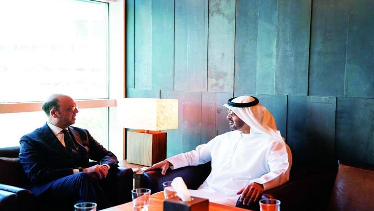 محمد بن زايد يبحث تعزيز التعاون مع إيطاليا