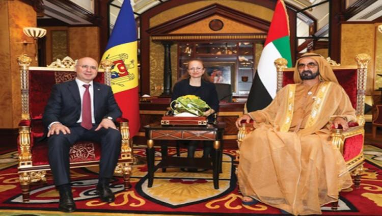 محمد بن راشد ومحمد بن زايد يبحثان تعزيز العلاقات مع رئيس وزراء مولدوفا