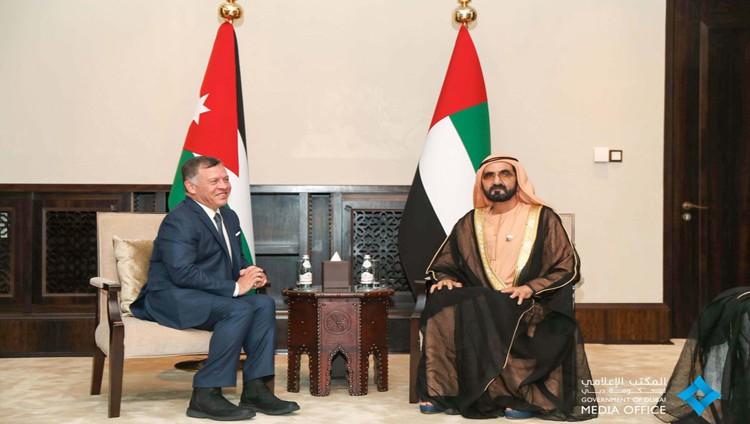 محمد بن راشد يبحث مع عاهل الأردن تعزيز علاقات الأخوة بين البلدين