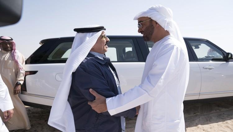 محمد بن زايد وحمد بن عيسى يبحثان العلاقات الأخوية