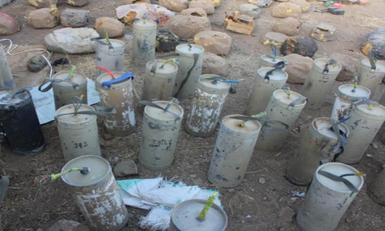 الجيش اليمني ينزع ثلاثة آلاف لغم وعبوة ناسفة في صعدة