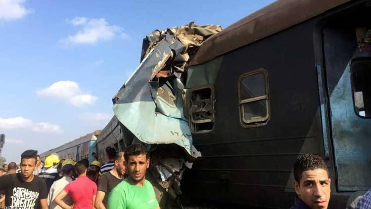 قتلى وجرحى في حادث تصادم قطارين بمصر