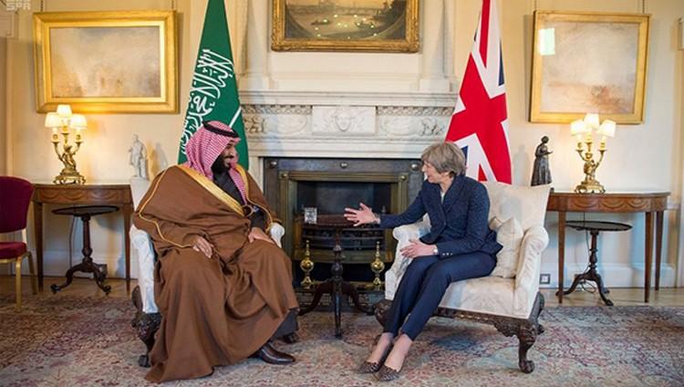 ولي العهد السعودي و ماي يبحثان العلاقات الثنائية