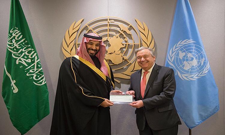 محمد بن سلمان يبحث مع غوتيرش قضايا الشرق الأوسط