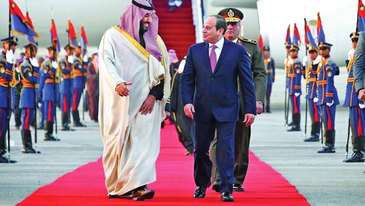 مصر تستقبل محمد بن سلمان باحتفالات استثنائية