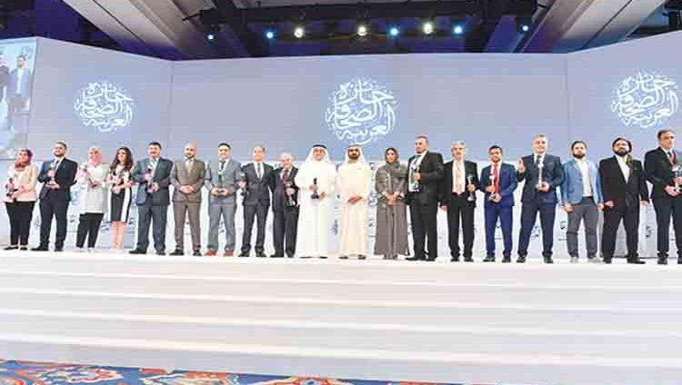 محمد بن راشد يكرّم الفائزين بجائزة الصحافة العربية للعام 2018