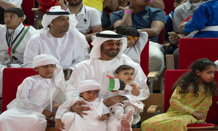 محمد بن زايد يشهد الجولة الختامية لمهرجان أبوظبي للجوجيتسو