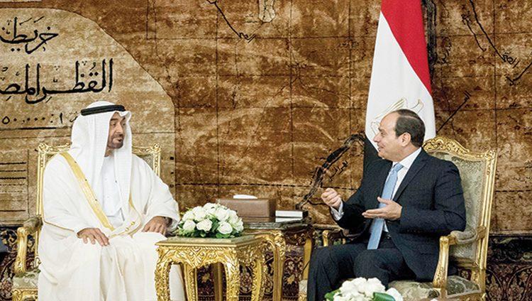 محمد بن زايد والرئيس المصري يبحثان العلاقات الثنائية والتحديات في المنطقة