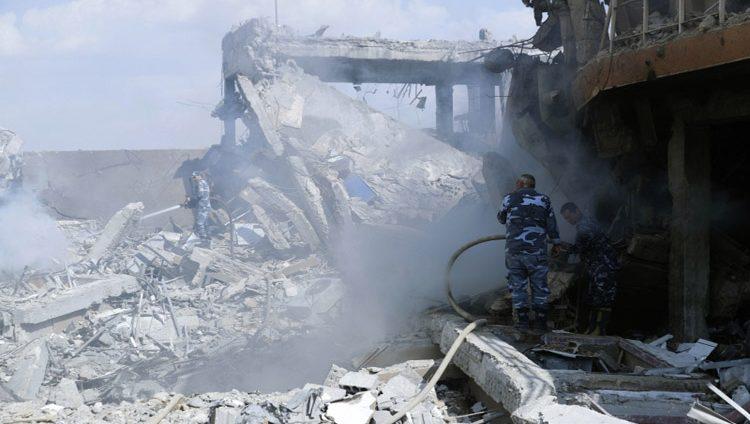 ضربات «ثلاثية» تدمر مواقع الأسد الكيماوية