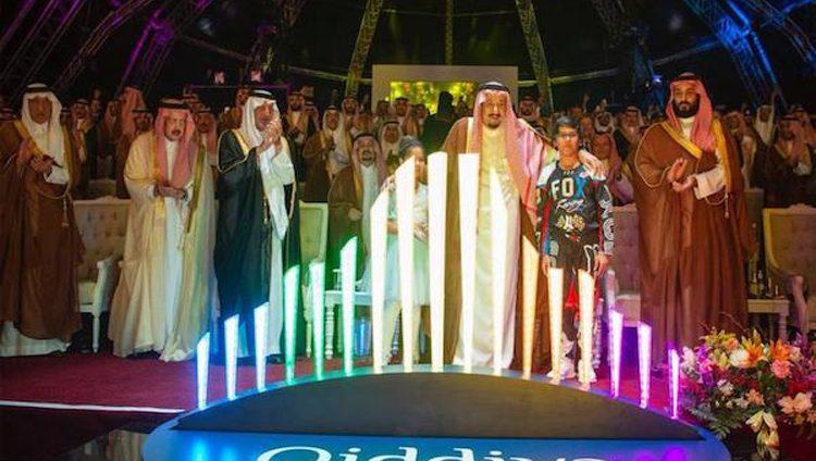 العاهل السعودي يضع حجر الأساس لأكبر مشروع ترفيهي في المنطقة