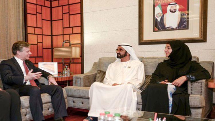 محمد بن راشد ومدير الـ «إف بي آي» يبحثان مكافحة الإرهاب والتطرف
