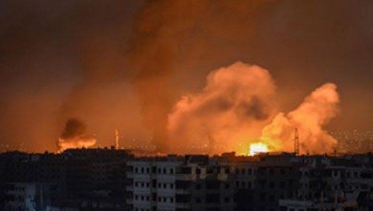 عشرات القتلى والجرحى في قصف صاروخي على مواقع عسكرية سورية